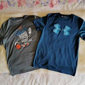 2 pieces Under Armour Boys Short Sleeve
